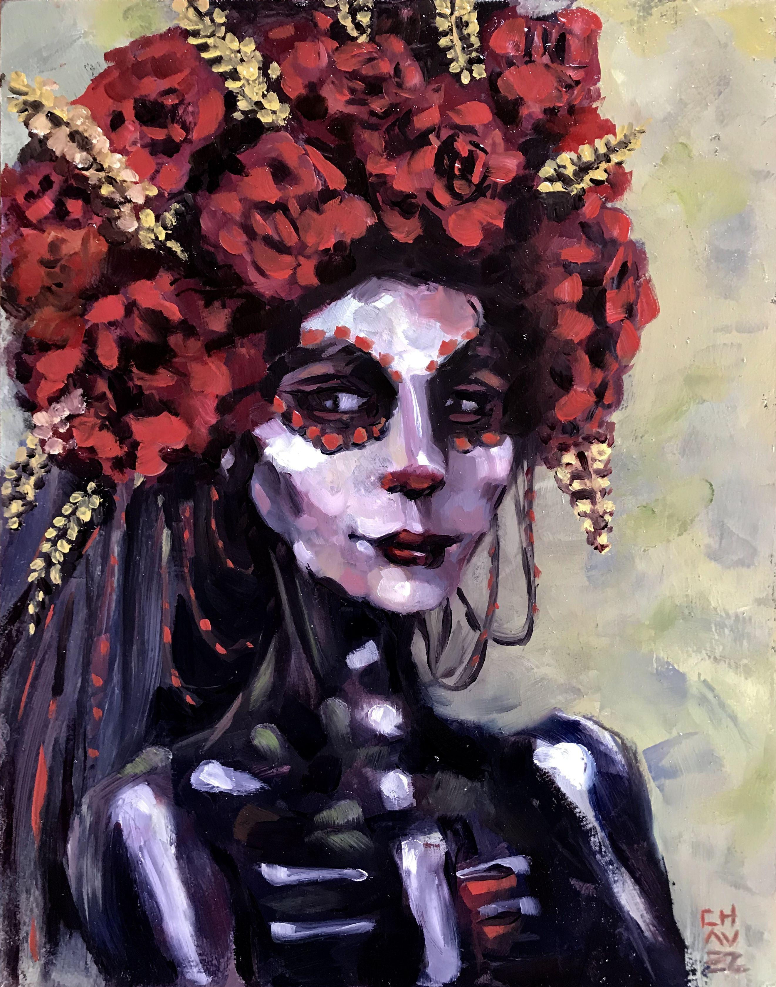 Boheim small print alex chavez artist original oil