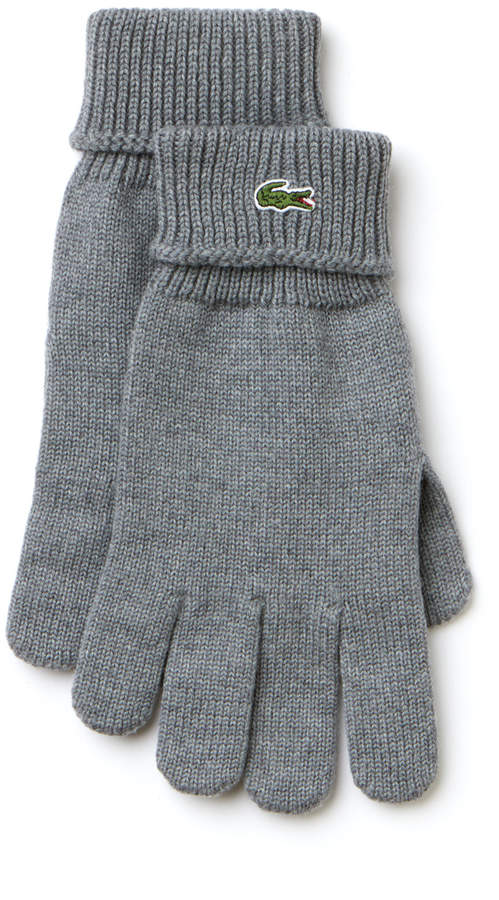 1ee55a892804df Lacoste Men s Ribbed Wool Gloves