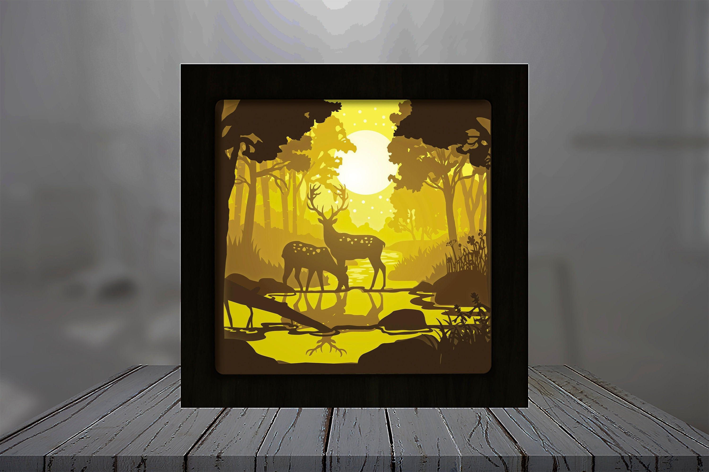 Pin On Paper Cut Light Box Shadow Box