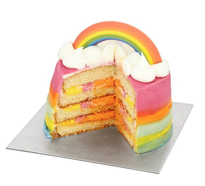 Vanilla Smash Cake Asda Uk Filled With Candy: TESCO Multicoloured Rainbow Cake