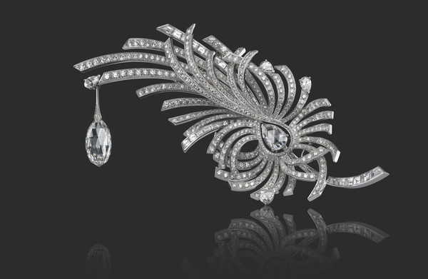 one-of-a-kind Aigrette brooch by Chanel Fine Jewelry ...