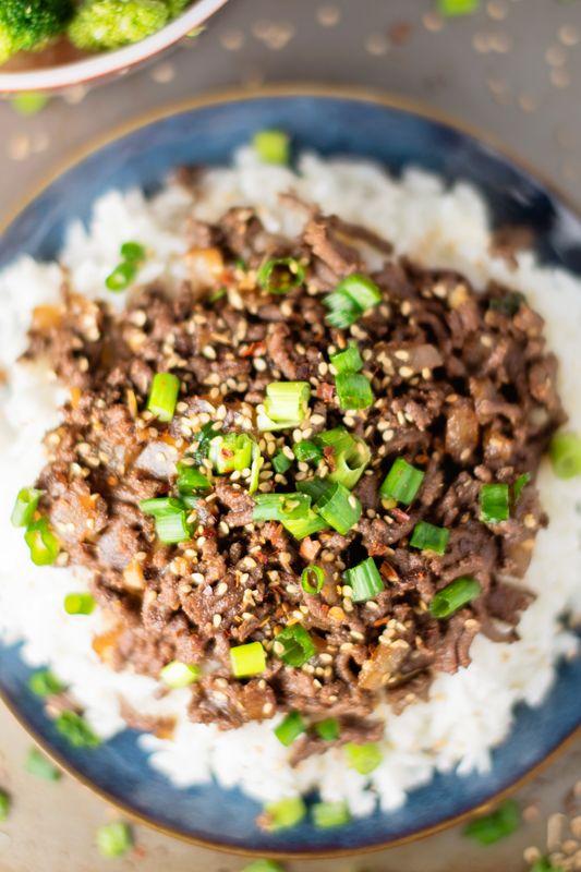 15 Minute Healthy Asian Beef Bowl Recipe Healthy Beef Recipes Beef Bowl Recipe Ground Beef Recipes Healthy