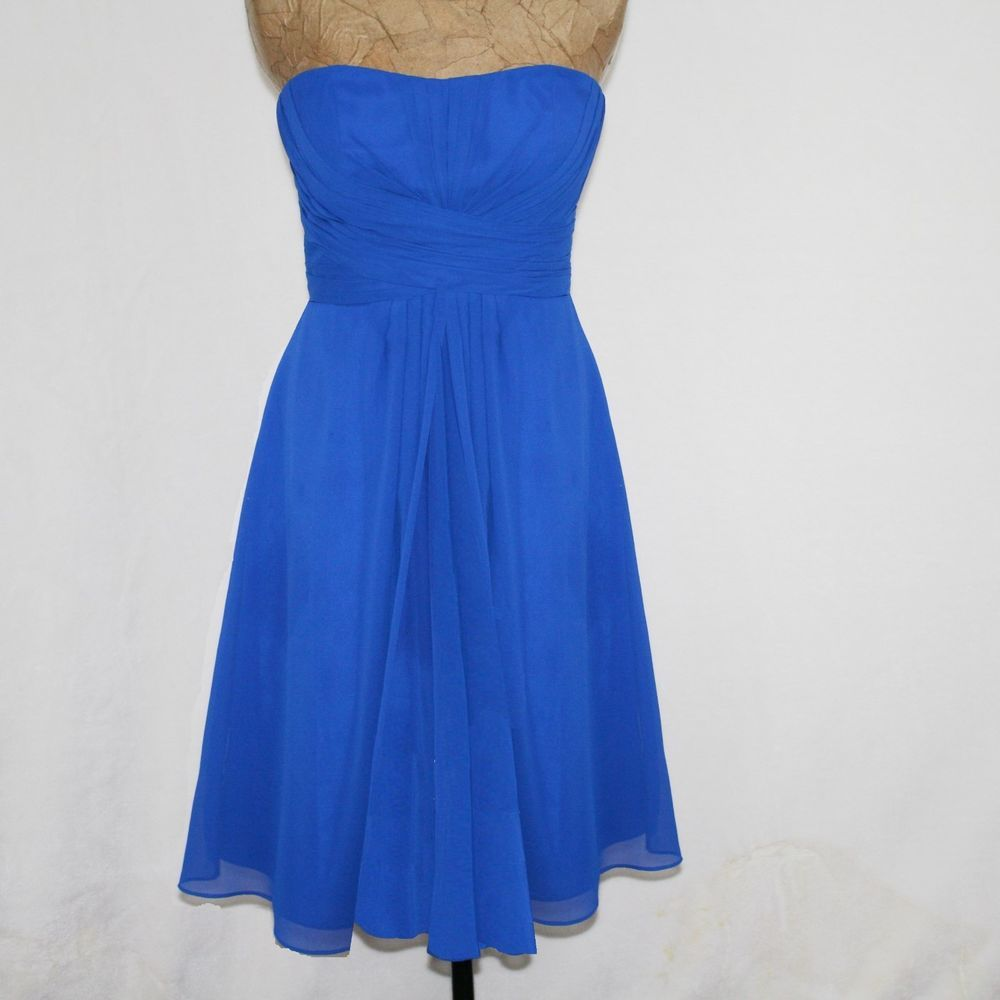 bb5edb13ae Bill Levkoff Blue Chiffon Prom Party Bridesmaid Dress  82955