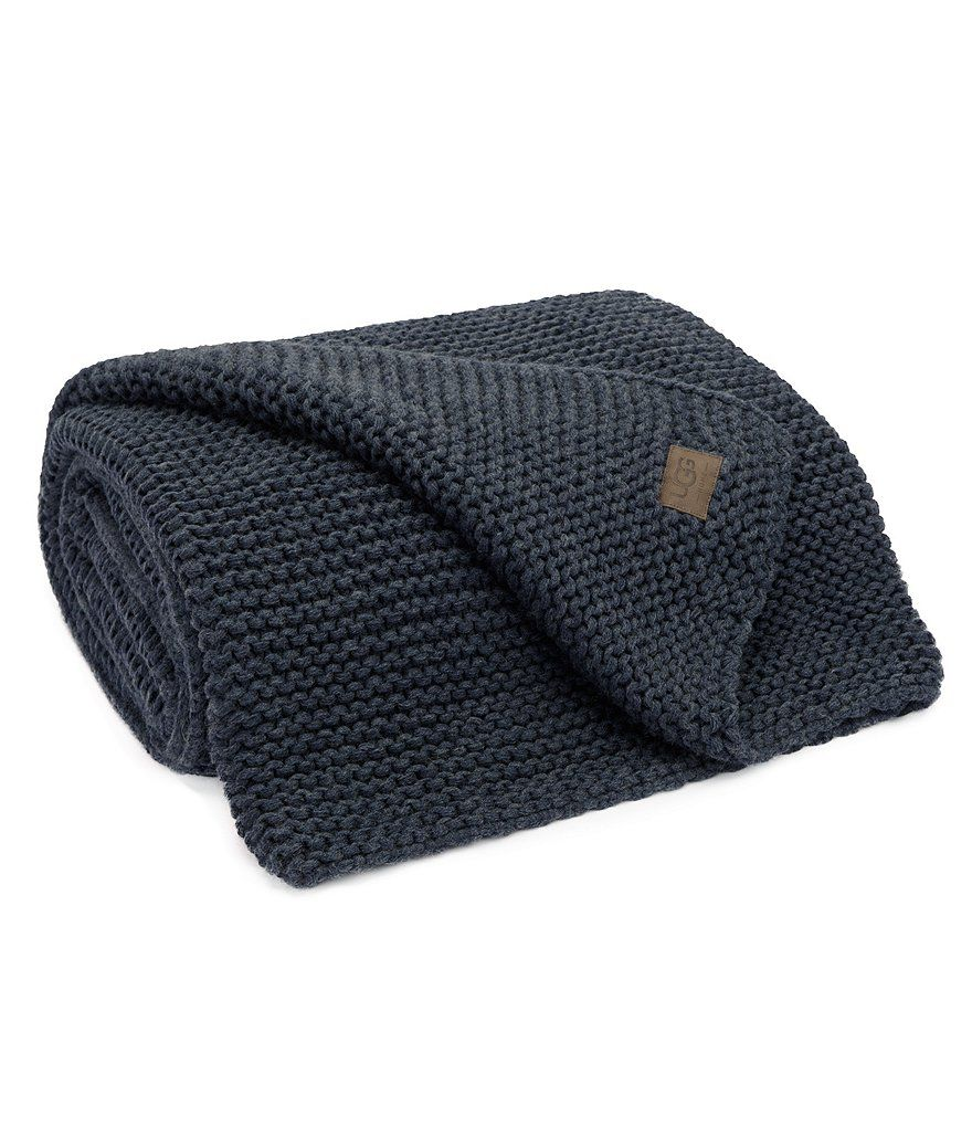Navy:UGG® Snow Creek Throw Blanket