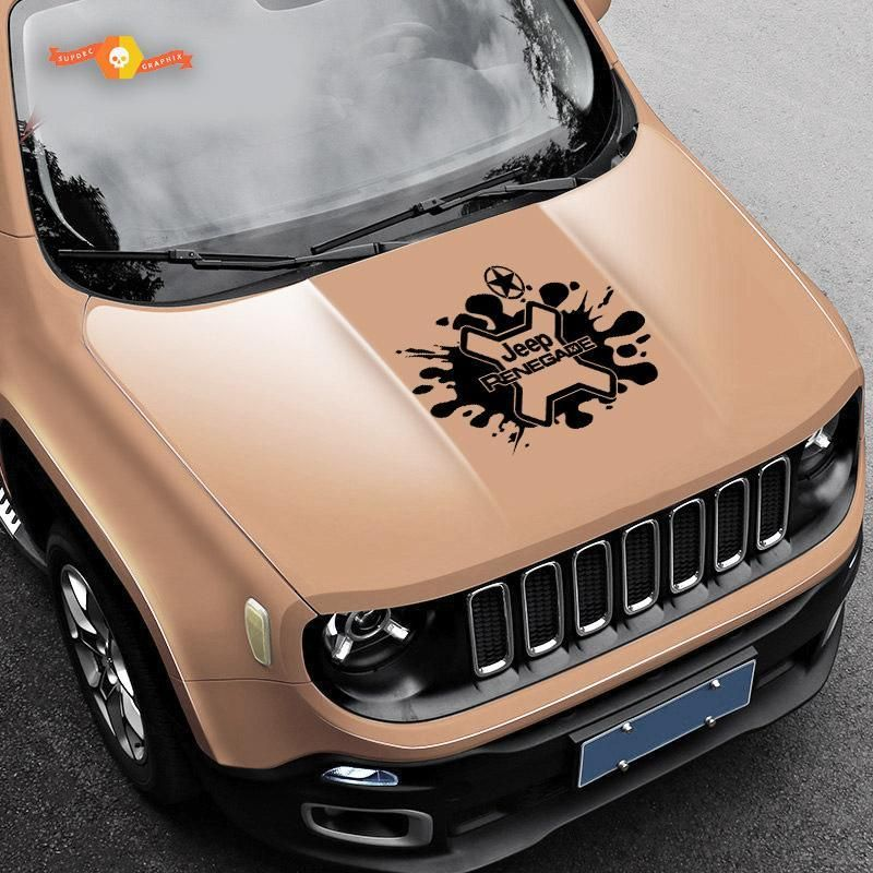 Jeep Renegade Logo Splash Army Star Grunge Graphic Vinyl Decal