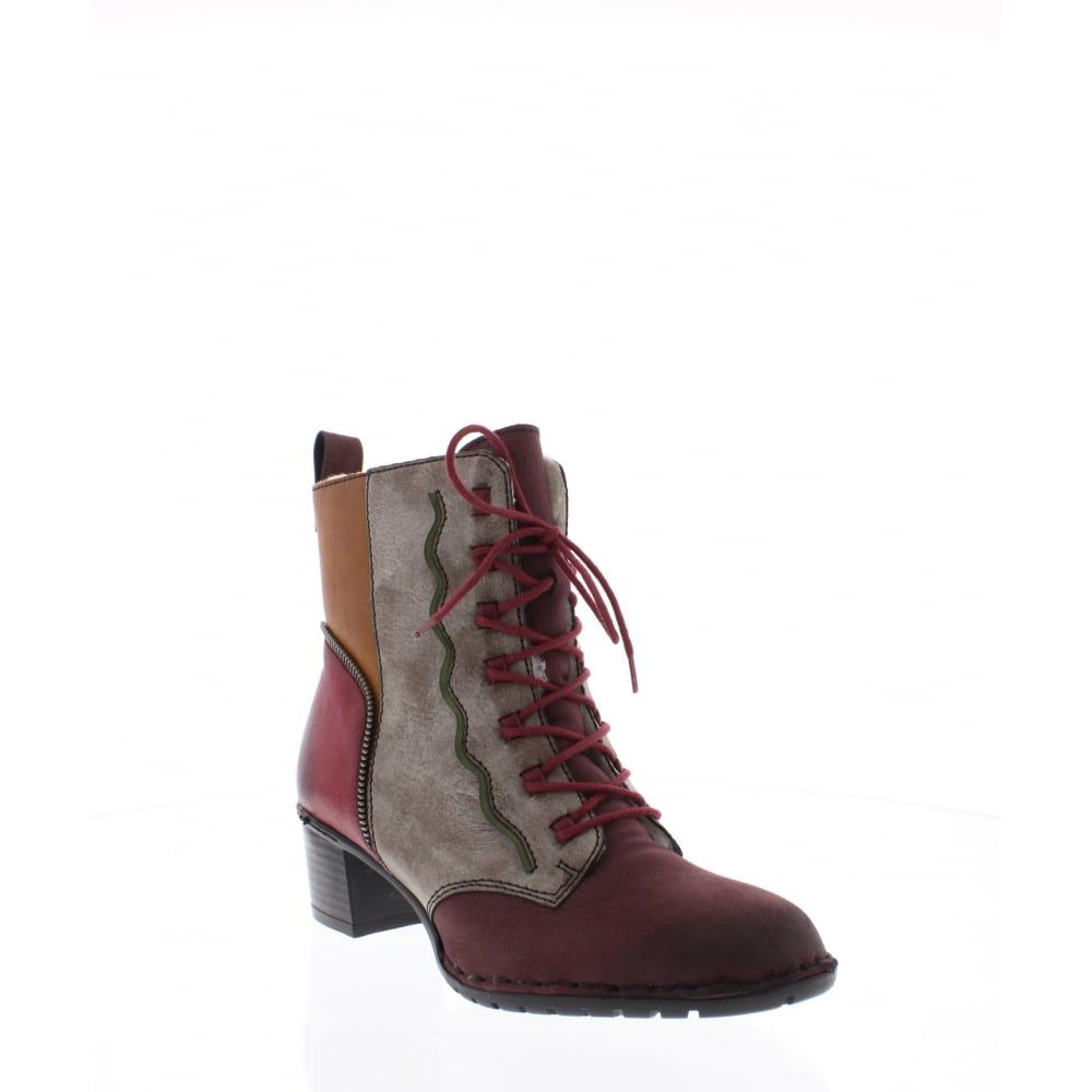 36 Womens multi coloured ankle boot