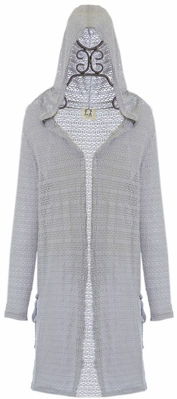 a3f42532f52 PPLA Girls Duster Sweater in Gray Clothing Stores