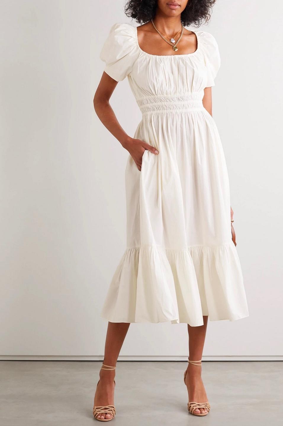 24 White Summer Dresses To Celebrate The Season In Style White Dress Summer Summer Dresses Dresses [ 1439 x 956 Pixel ]