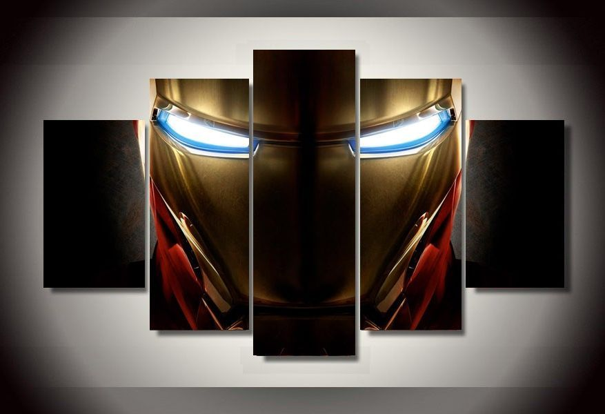 Ironman Helmet Marvel Avengers Poster Canvas Print Art Home Decor Wall Art