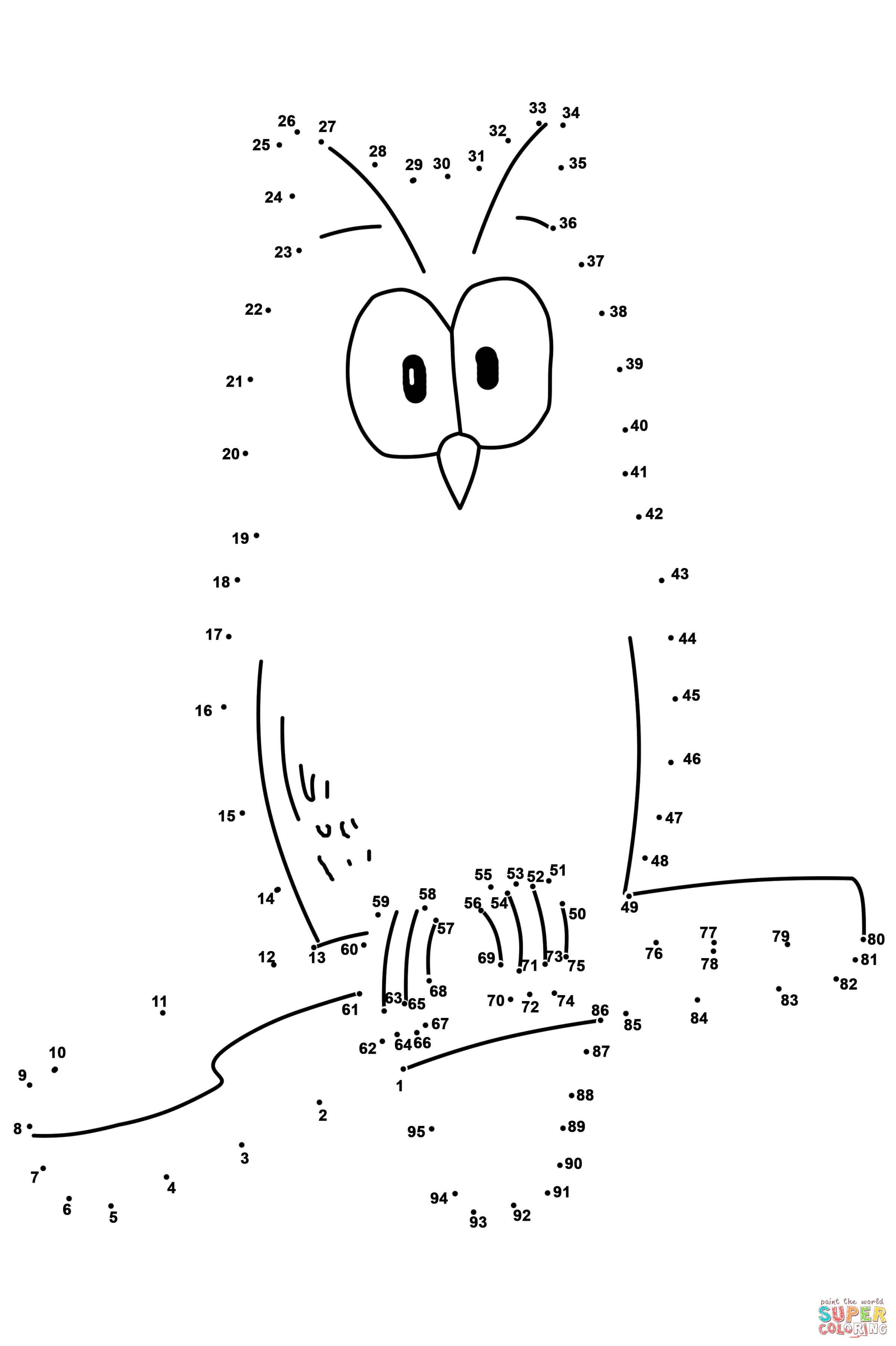 Owl Dot To Dot