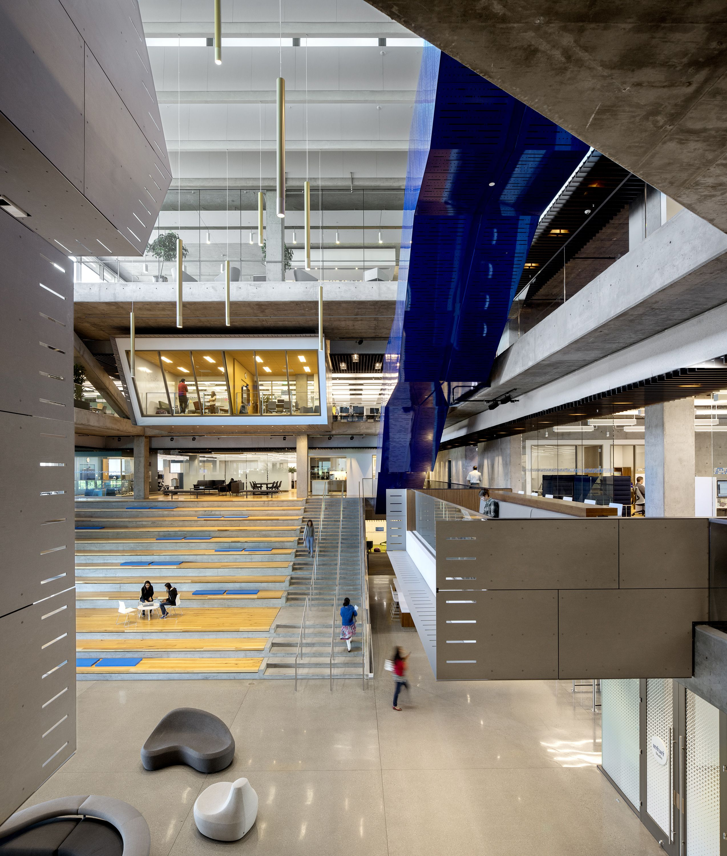 Clive Wilkinson Architects Intuit Marine Way Building Building