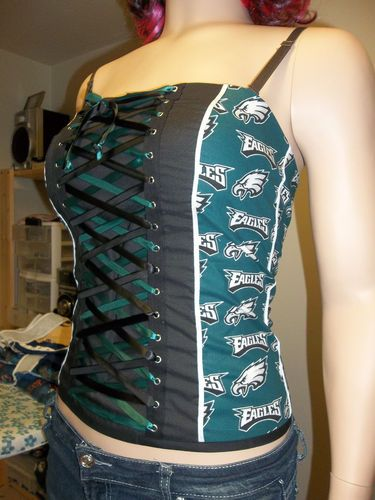 Corsets & Bustiers Diy Nfl Football Team Corsets Strapless Size Large Football-nfl