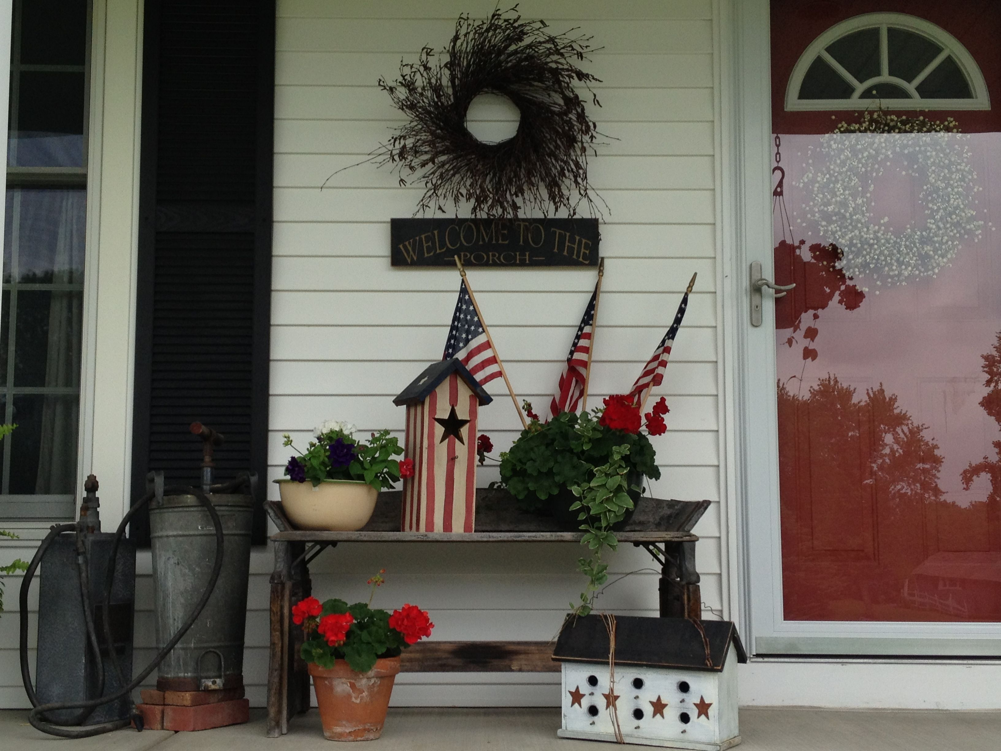My Country Porch Done In Americana
