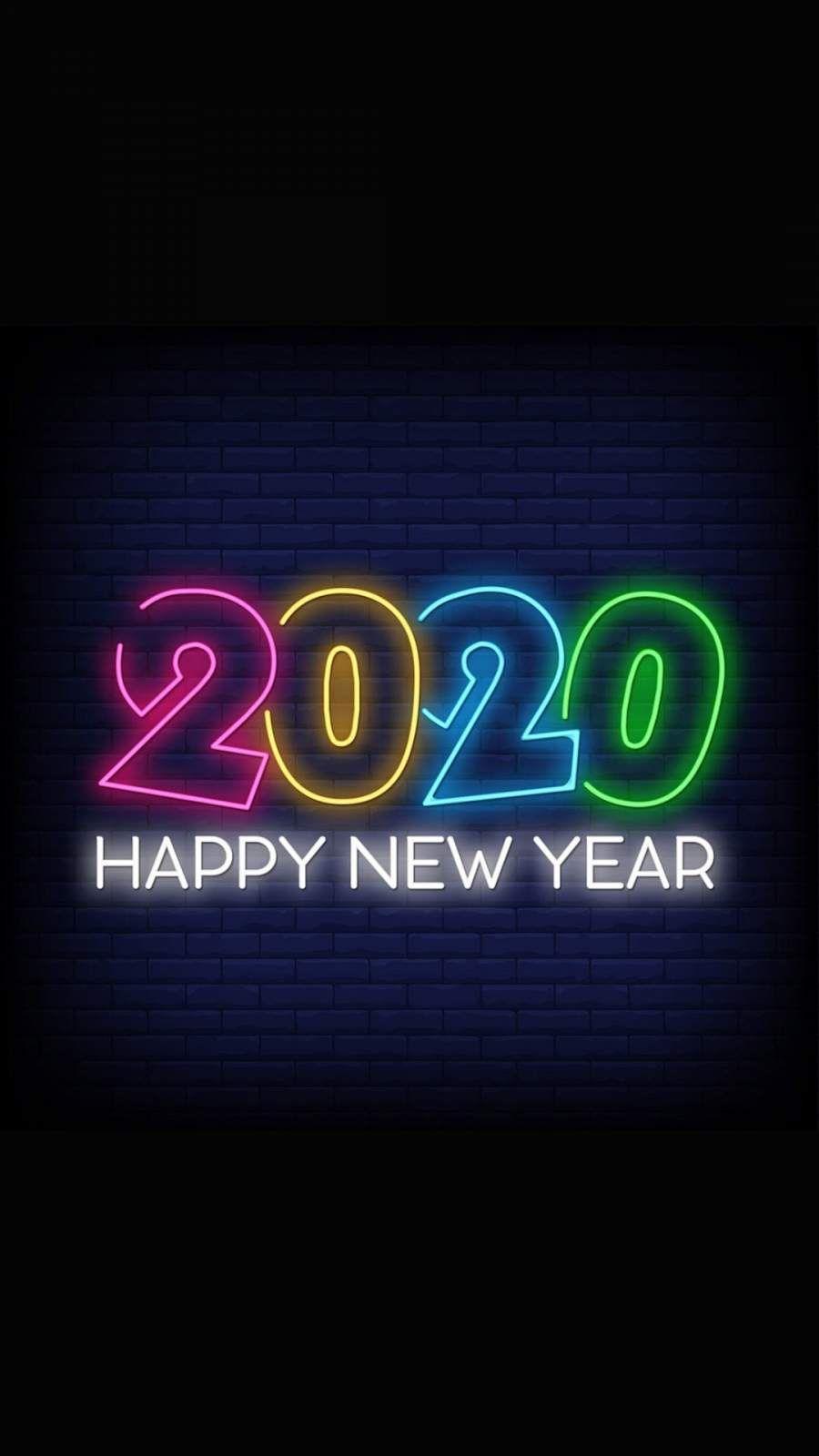 Happy New Year 2020 Iphone Wallpaper 1 Inspirasional Wallpaper Ponsel Gambar