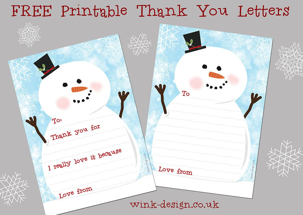 Free Printable Christmas Thank You Letters Download And Print These Super Cute Thank Thank You Cards From Kids Christmas Thank You Free Christmas Printables