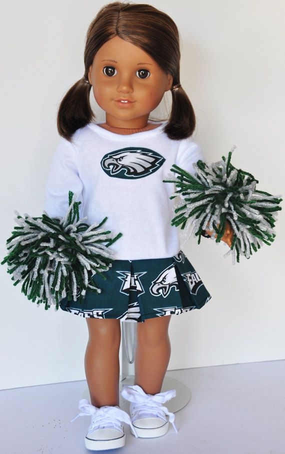 American Girl Philadelphia Eagles Cheerleader Outfit #18inchcheerleaderclothes