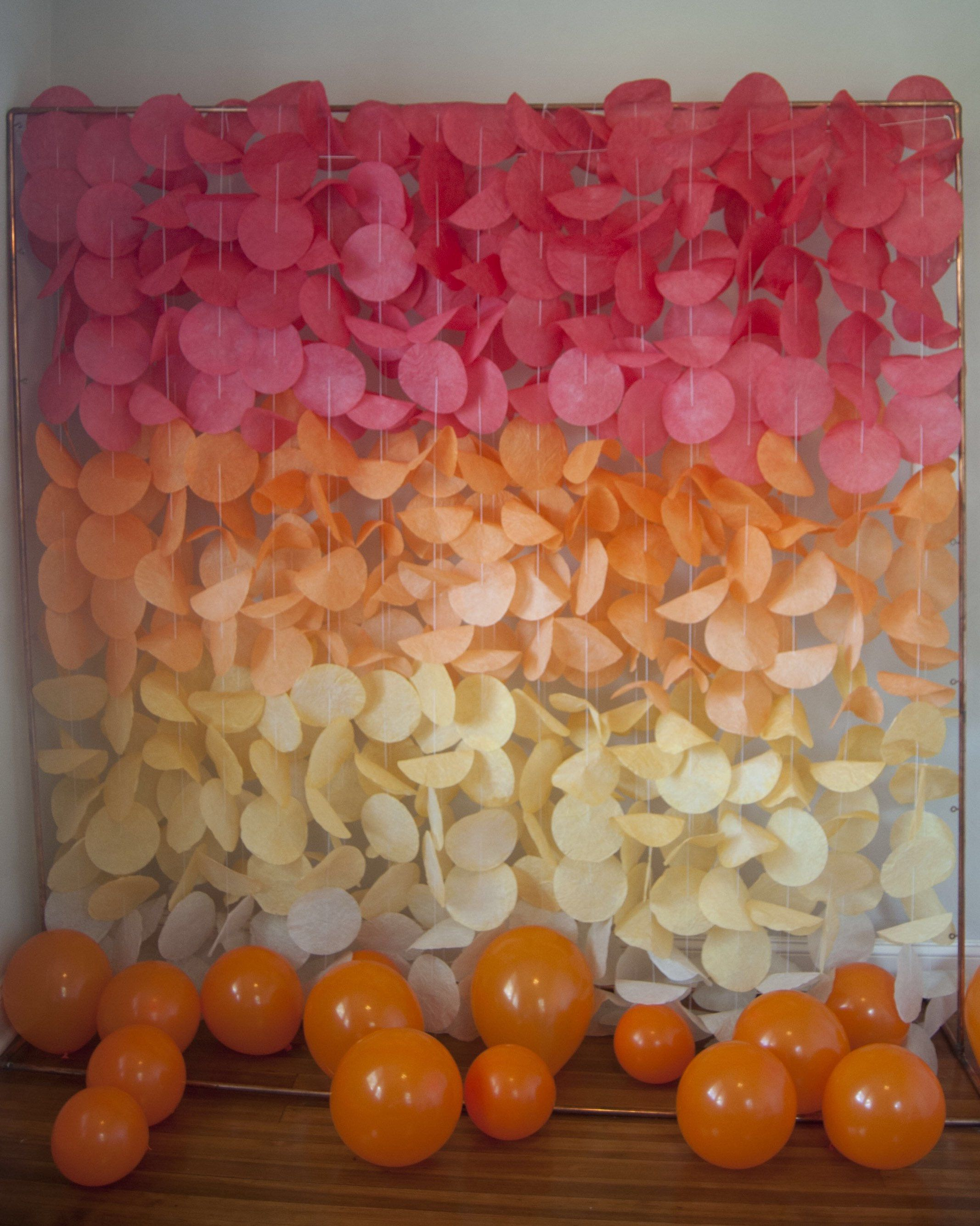 Mustard Yellow Ombre Paper Circle Garland