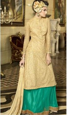 3fd4c9b94dae Beige Color Net Party Wear Style Gown Dresses   FH503176855 #gowns , # designer ,