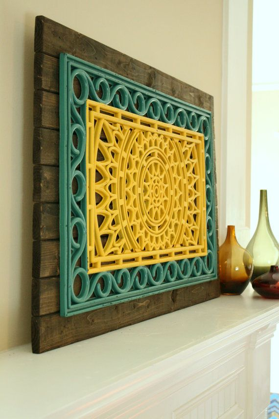 Rustic Wood Industrial Medallion Hanging Wall by SilvaDesignLLC ...