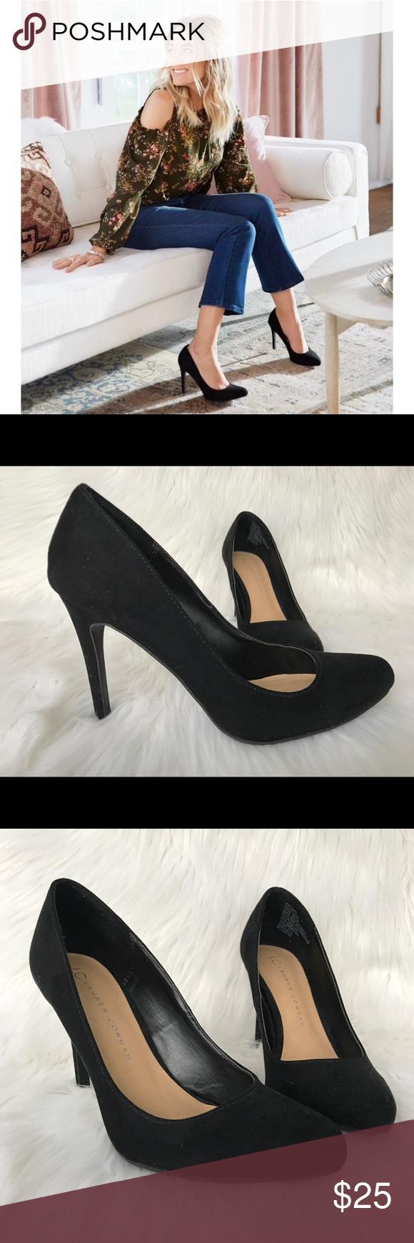 8b26a6bdb74 LC Lauren Conrad Black Almond Toe Pumps Shoes are a size 7 1/2 but ...