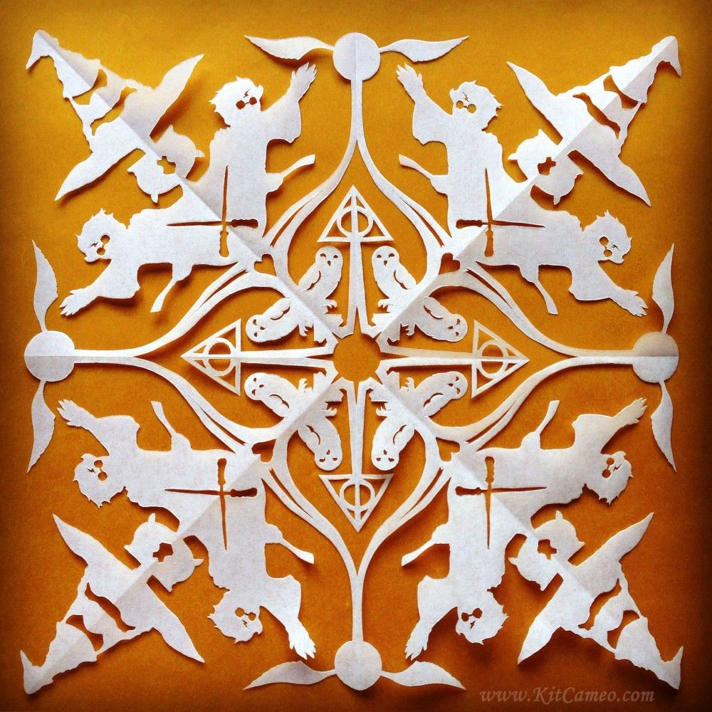 Harry Potter Snowflake Handmade Paper Cut Artwork Kitcameo On Artfire
