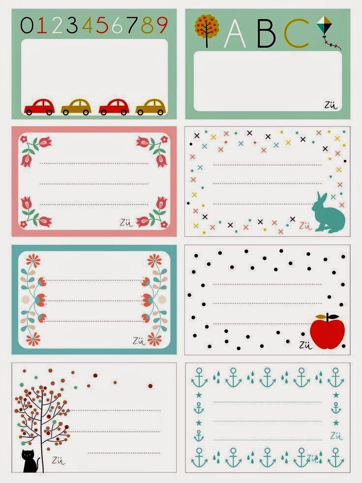 Imprimolandia: Etiquetas escolares para imprimir … | Pinteres…