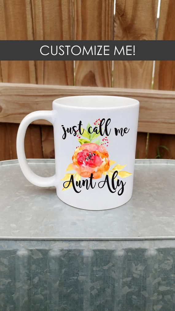Just Call Me Aunt - Baby Reveal, Pregnancy Announcement, Gift, Custom Mug, Coffee, Tea, Gift Wrap, G #custommugs
