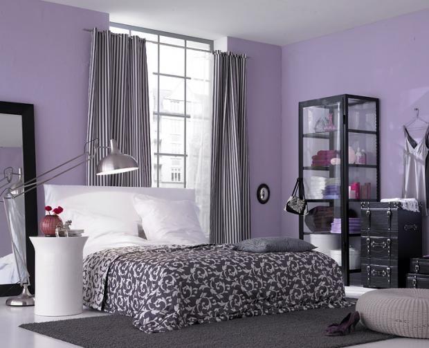 wohnen mit farben wandfarbe rot blau gr n und grau gr n und grau flieder und gut beraten. Black Bedroom Furniture Sets. Home Design Ideas