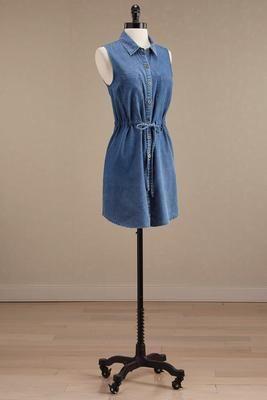 Versona drawstring shirt dress #Versona