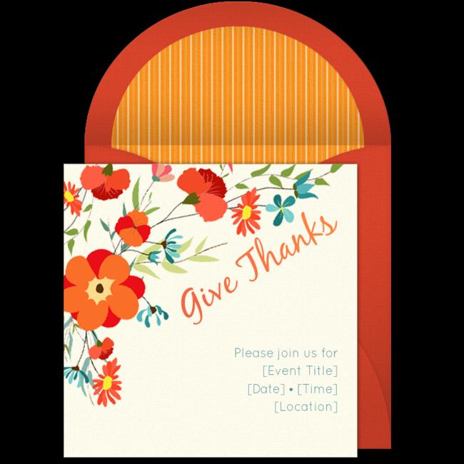 free give thanks invitations pinterest thanksgiving invitation