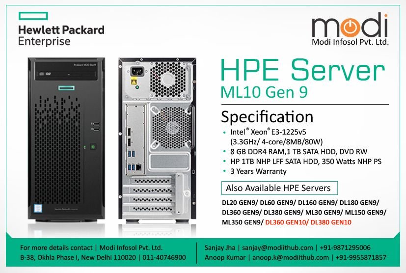 HPE Proliant ML10 Gen9 Server (866724-375) | HPE Server