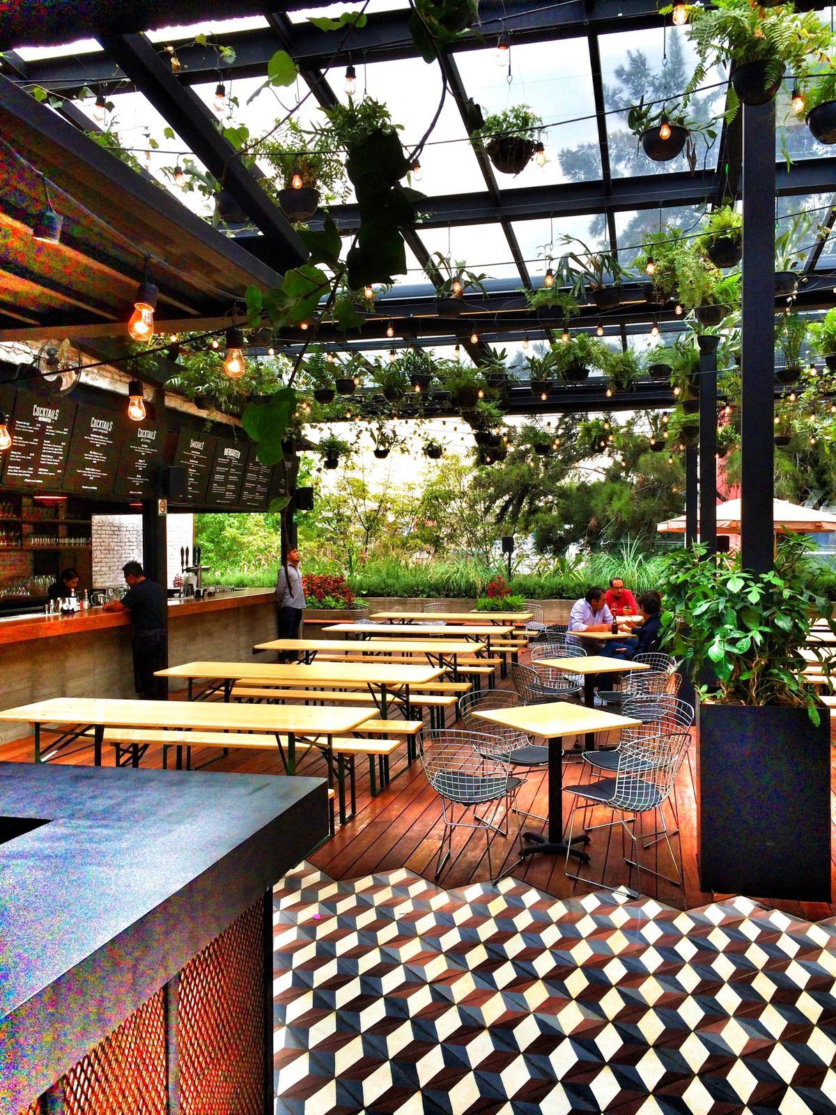 Such feels.. green and open cafe Cafe bar design