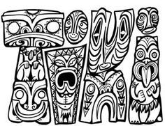 maori colouring in pages google search - Tiki Coloring Pages