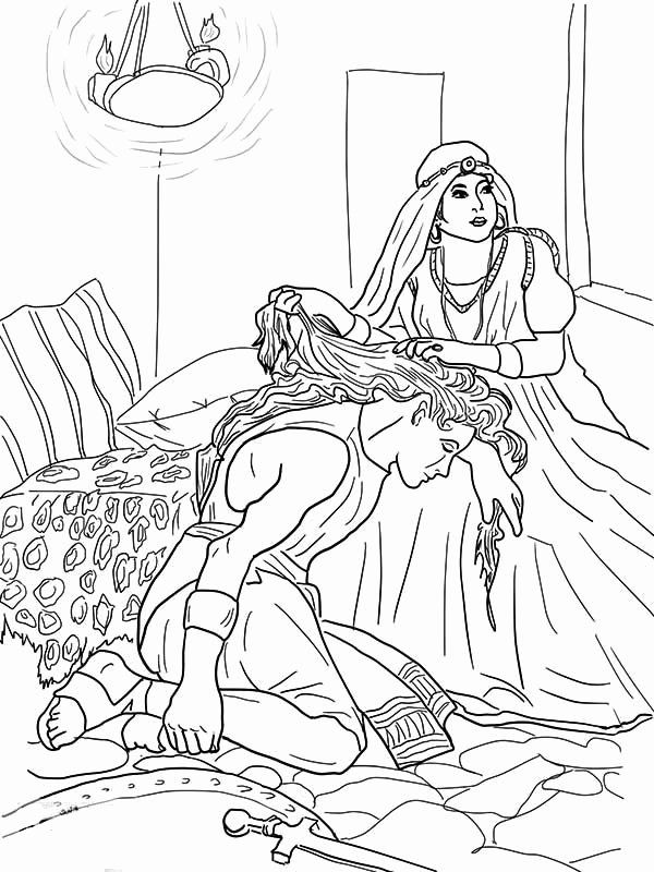 Samson And Delilah Coloring Page Awesome Coloring Pages Samson