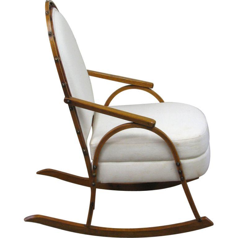 A Vintage SnowShoe Rocking Chair