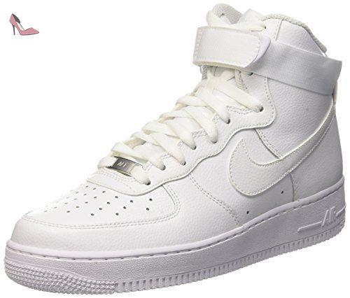 Nike Air Force 1 High '07, gymnastique homme, Blanc Cassé