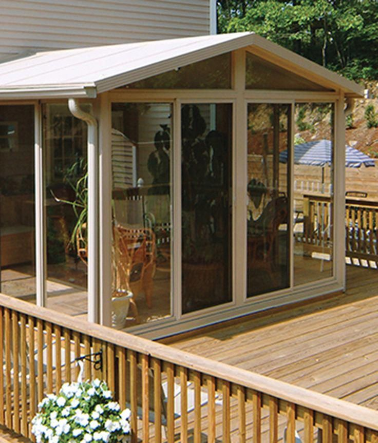 Sunroom Addition Ideas: The EasyRoom™ Sunroom Kit Allows You To Save On Labor