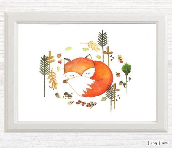 Originaldruck - ♥Fuchs ♥ Print von Aquarell - ein Designerstück von TinyTami bei…