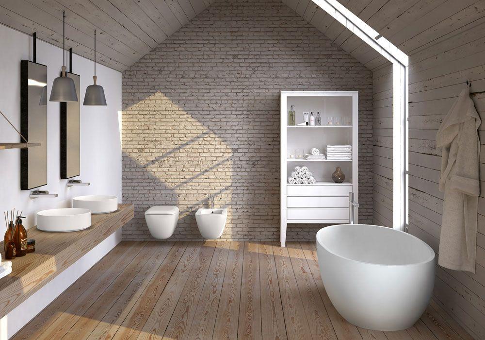 Badkamer Italiaans design - waskommen van ultradun keramiek - Shui ...