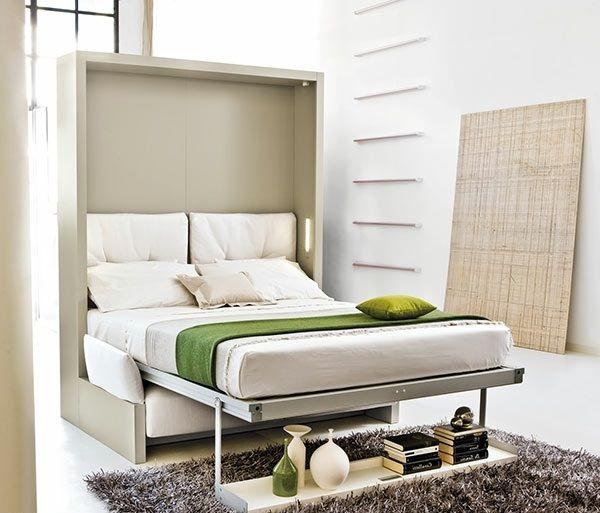 schrankwand mit klappbett - wohnideen für praktische wandbetten ... - Wohnideen Minimalist Sofa