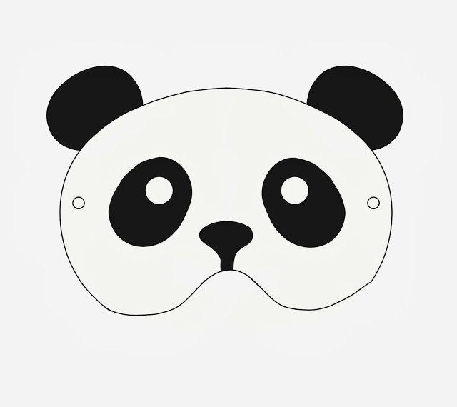Little Pin Cushion Studio Free Printable Panda Mask Goruntuler