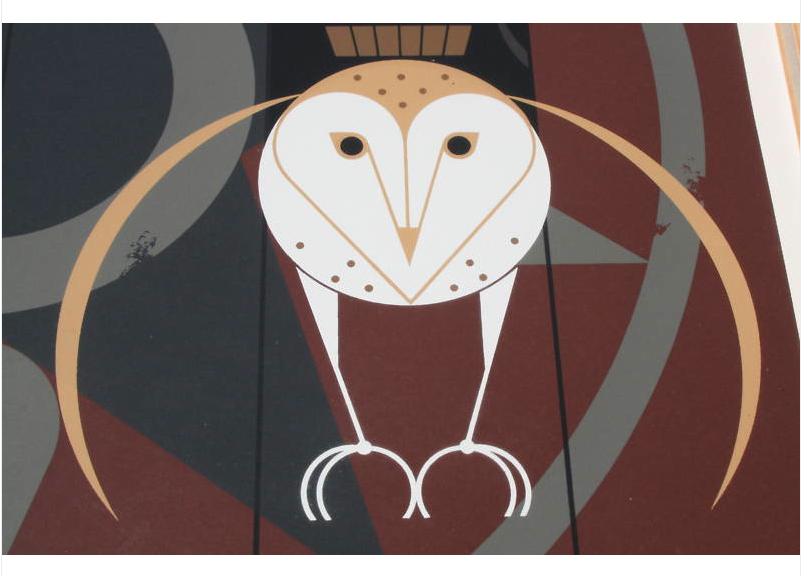Charlie//Charley Harper fun bird art BARK AND BIRDS BIRCH Cert of Auth