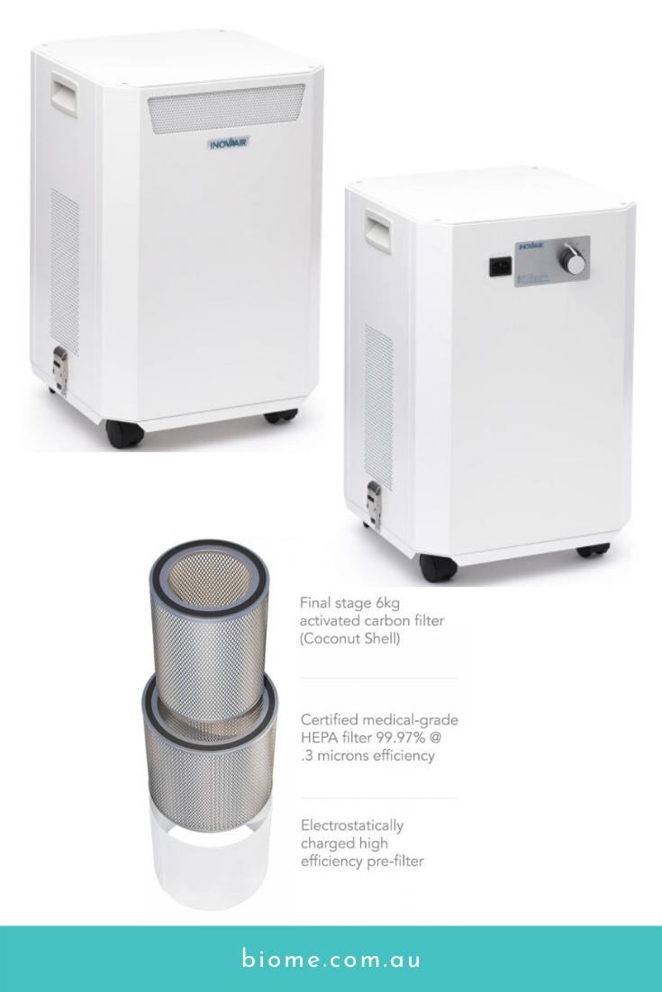 InovaAir AirClean E7 HEPA Air Purifier Biome Eco Stores