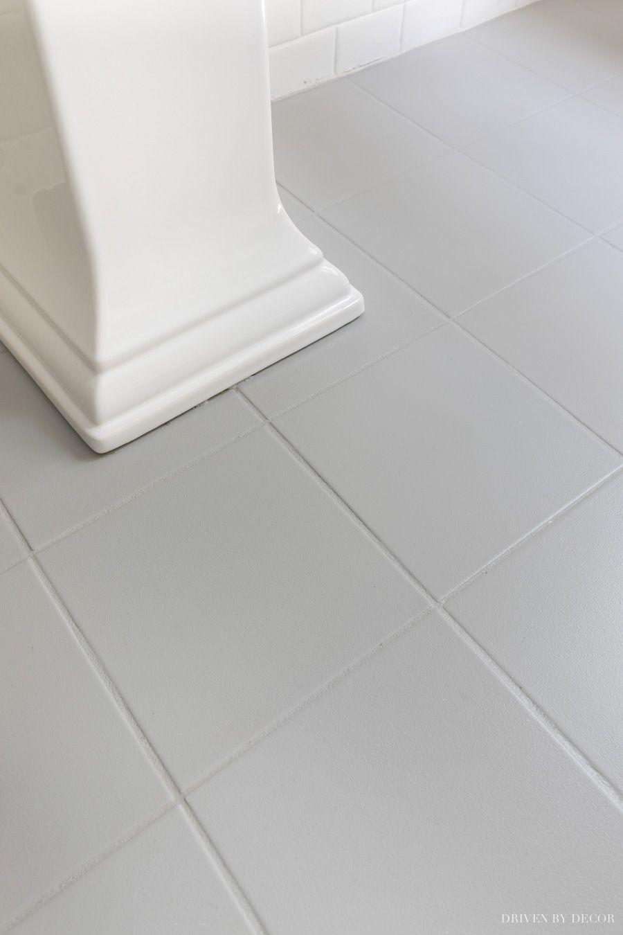 My Painted Bathroom Tile Did It Last With Images Painted Bathroom Floors Painting Bathroom Tiles Tile Floor