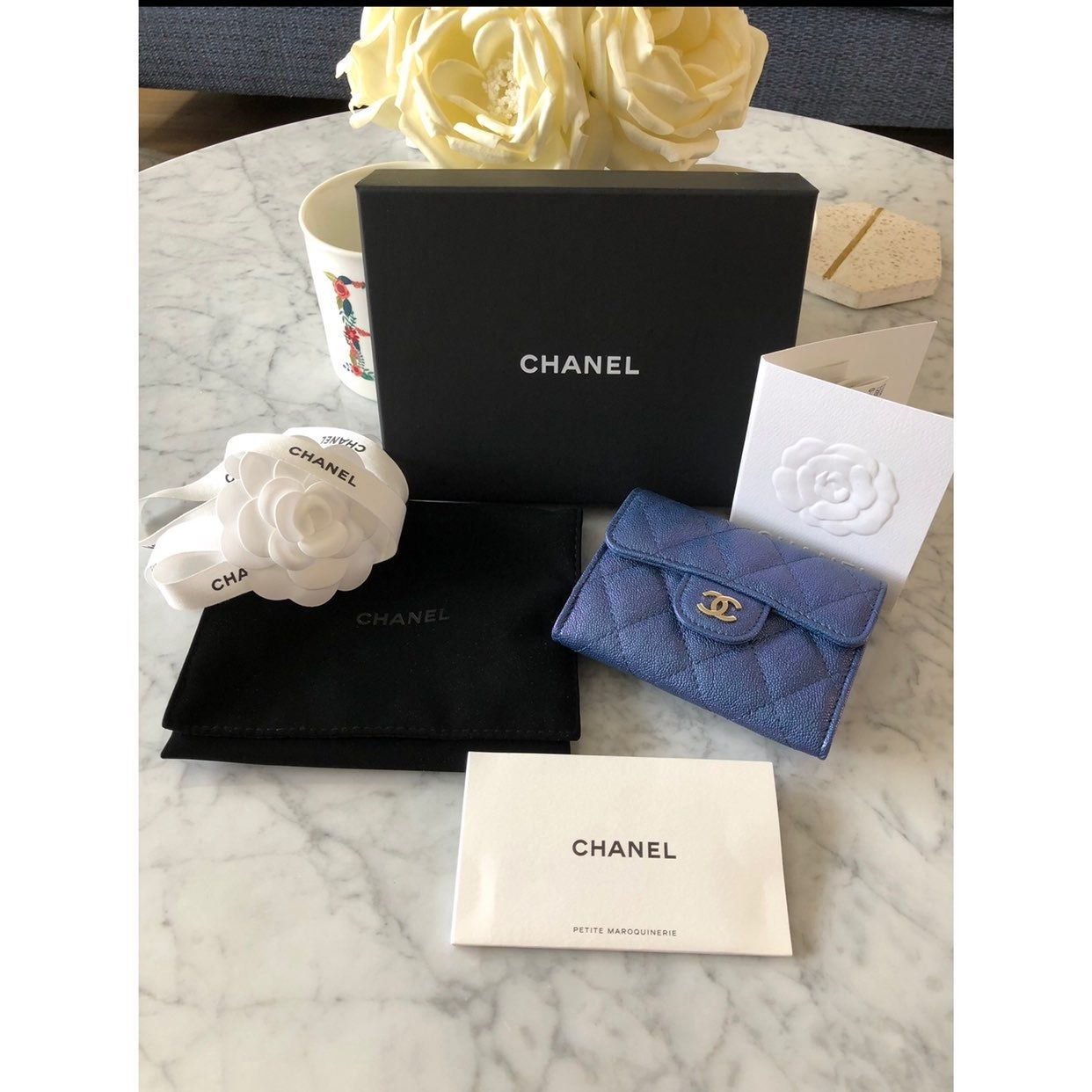 chanel card case with chain