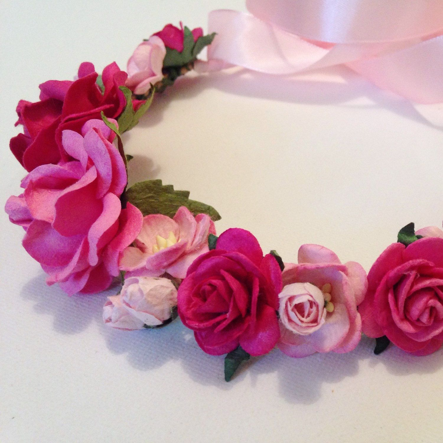 All things pink flower crown hair piece wedding hair maternity all things pink flower crown hair piece wedding hair maternity shoot izmirmasajfo
