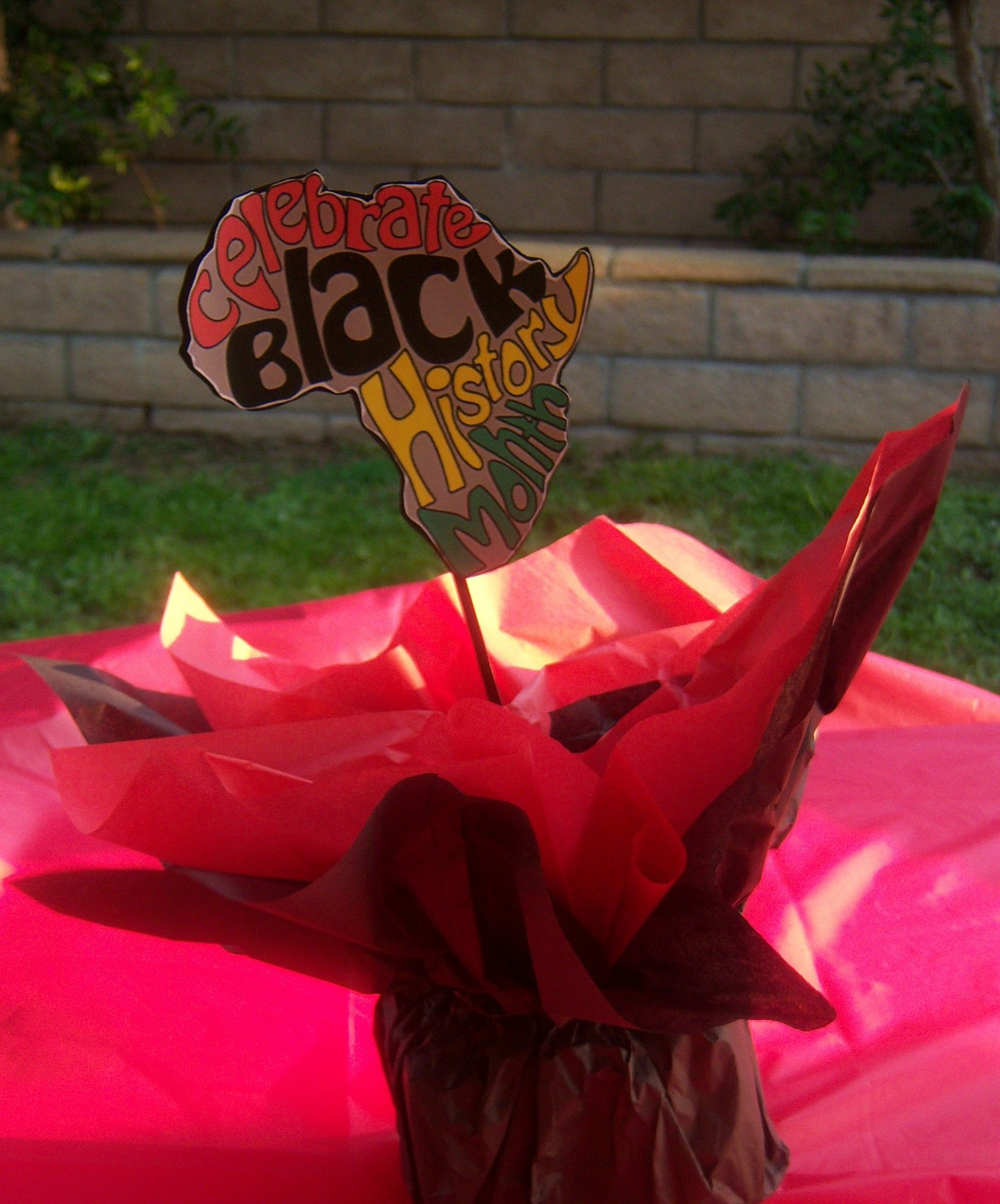 Black history celebration centerpieces school ideas