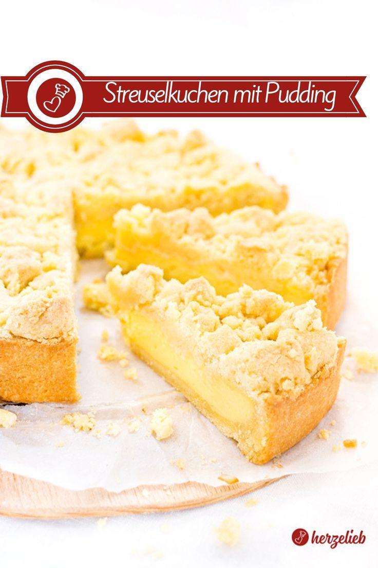 Streuselkuchen mit Puddingfüllung Rezept aus der Springform wie von Oma