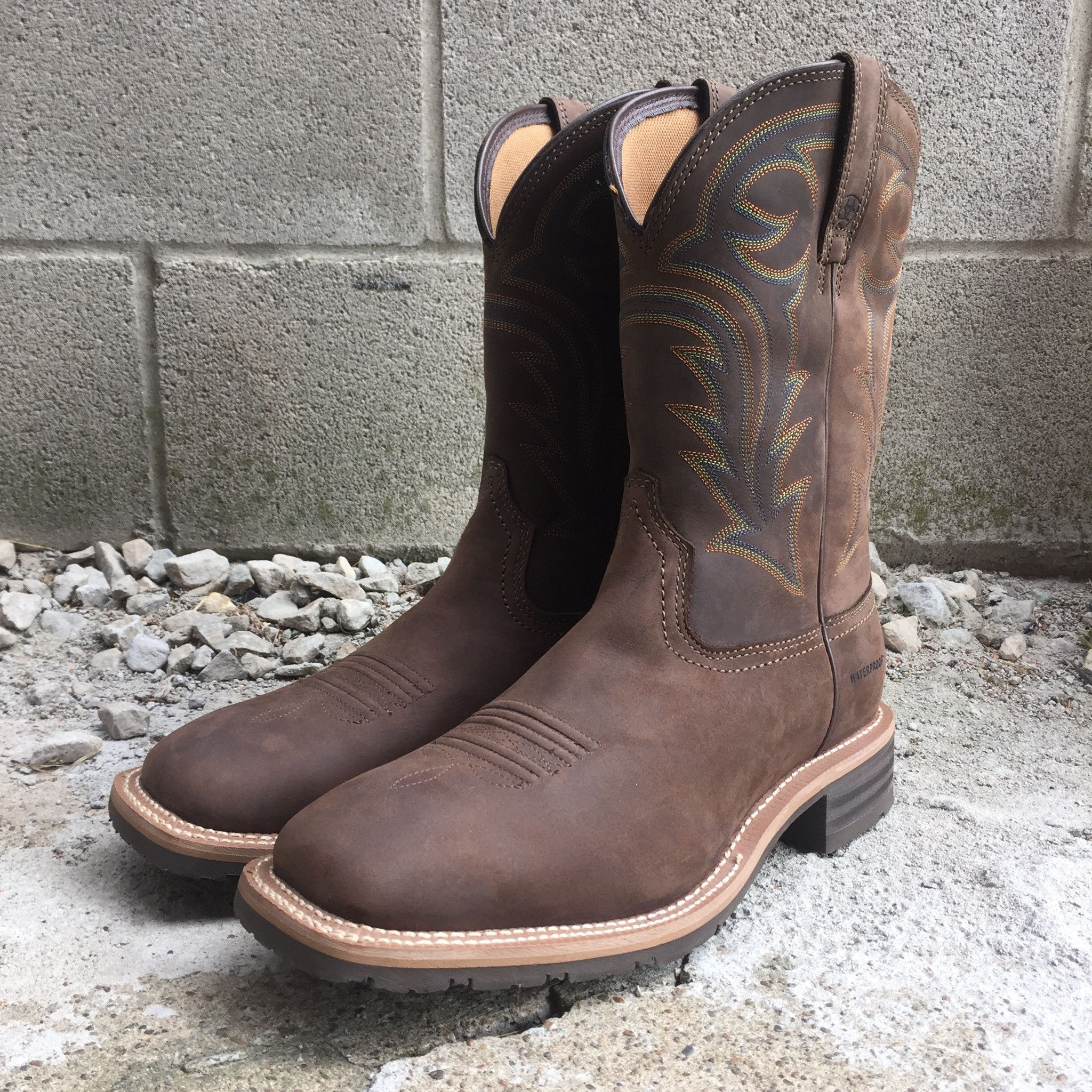 Ariat Men's Hybrid Rancher H2O Oily Distressed Brown Boot