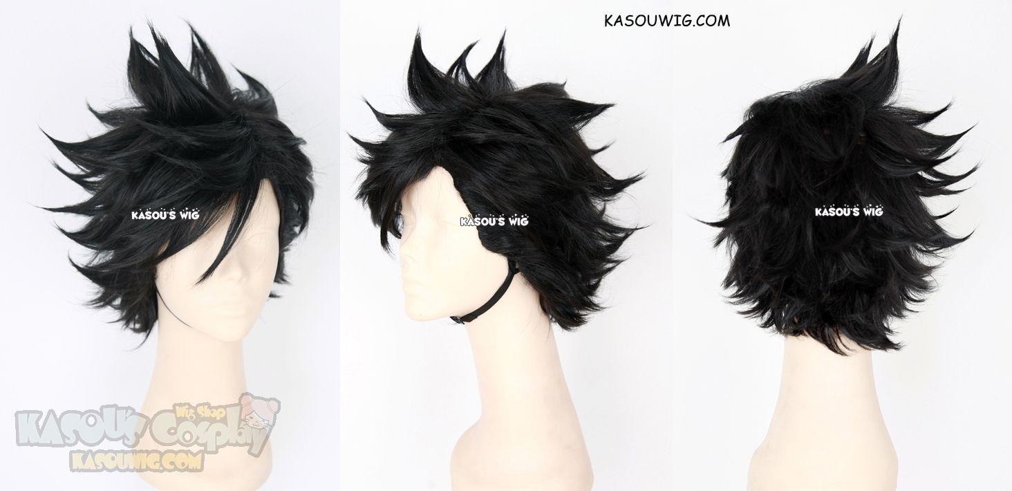 Kasou Wig Haikyuu Kuroo Tetsurou Short Black Spiky Cosplay Wig Cosplay Wigs Wigs Haikyuu Cosplay